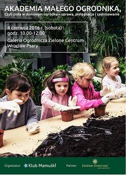 Warsztaty: Akademia Małego Ogrodnika, czyli zioła w domowym ogródku