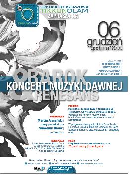 Koncert muzyki baroku u renesansu w Szkole Podstawowej Tikkun Olam
