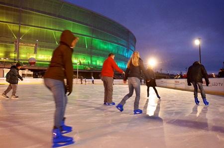 Otwarcie lodowiska na Stadionie Wrocław