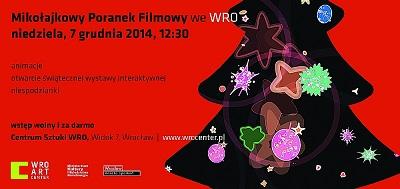Mikołajkowy Poranek Filmowy Świąteczna wystawa interaktywnych instalacji dźwiękowych
