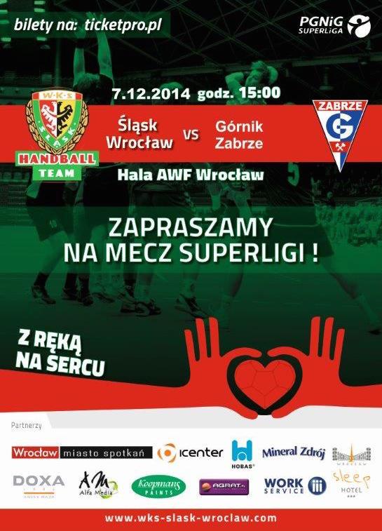 Mecz ekstraklasy piłkarzy ręcznych - Śląsk Wrocław - Górnik Zabrze
