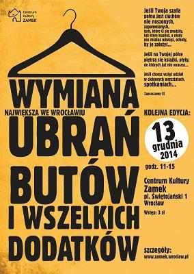 Wymiana ubrań, butów i wszelkich dodatków na Zamku w Leśnicy
