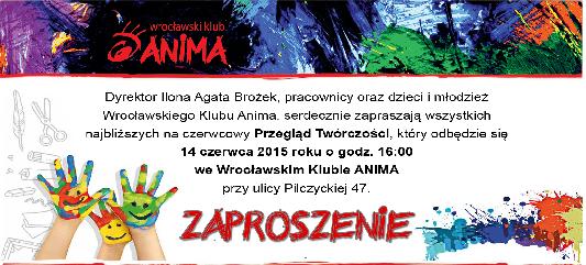 Przegląd twórczości we Wrocławskim Klubie Anima