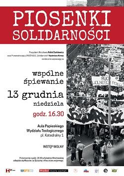Rocznica stanu wojennego - wspólne śpiewanie piosenek Solidarności