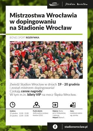 Mistrzostwa Wrocławia w dopingowaniu na Stadionie Wrocław