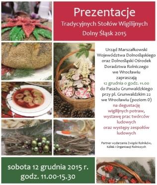 """Prezentacje """"Tradycyjnych stołów wigilijnych"""" Dolny Śląsk 2015"""