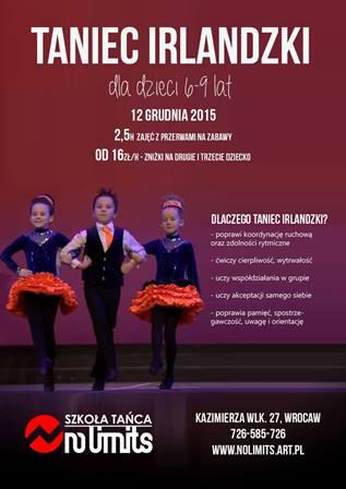 Warsztaty z Tańca Irlandzkiego dla dzieci