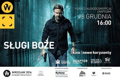 """Kino bez barier: pokaz filmu """"Sługi boże"""" z audiodeskrypcją i napisami"""