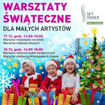 Warsztaty świąteczne dla małych artystów w Sky Tower
