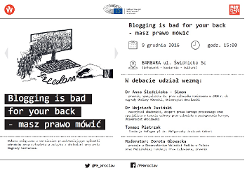 "?Blogging is bad for your back - masz prawo mówić\"" data-mce-src="