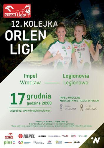 12. kolejka Orlen Ligi Impel Wrocław : Legionovia Legionowo