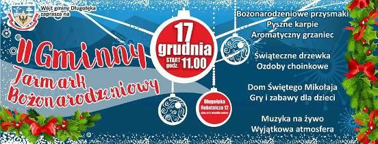 II Gminny Jarmark Bożonarodzeniowy w Długołęce