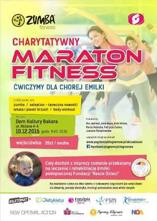 Charytatywny Maraton Fitness – ćwiczymy dla Emilki