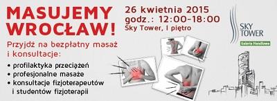 """""""Masujemy Wrocław"""" w Sky Tower - bezpłatne konsultacje fizjoterapeutów."""