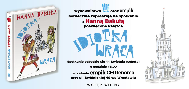 Hanna Bakuła w Empiku Renoma
