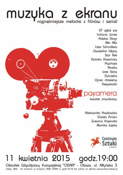 Koncert muzyki filmowej PAKAMERA - kwartet smyczkowy