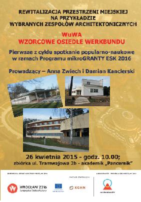 WuWA – WZORCOWE OSIEDLE WERKBUNDU