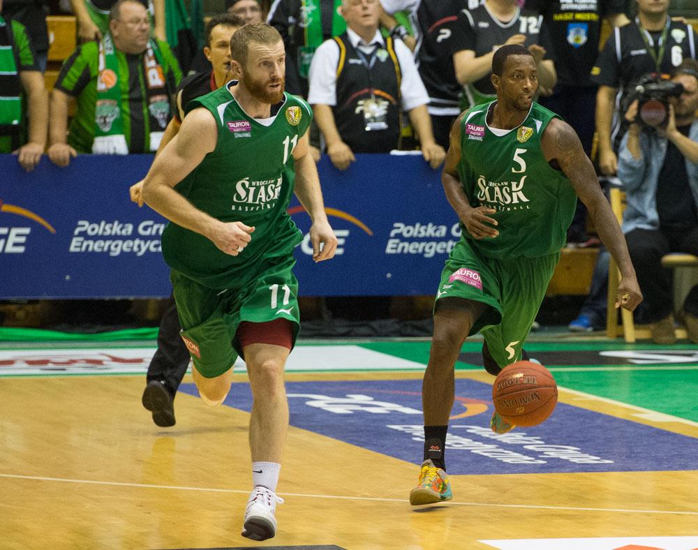 Mecz ekstraklasy koszykarzy - Śląsk Wrocław - Asseco Gdynia