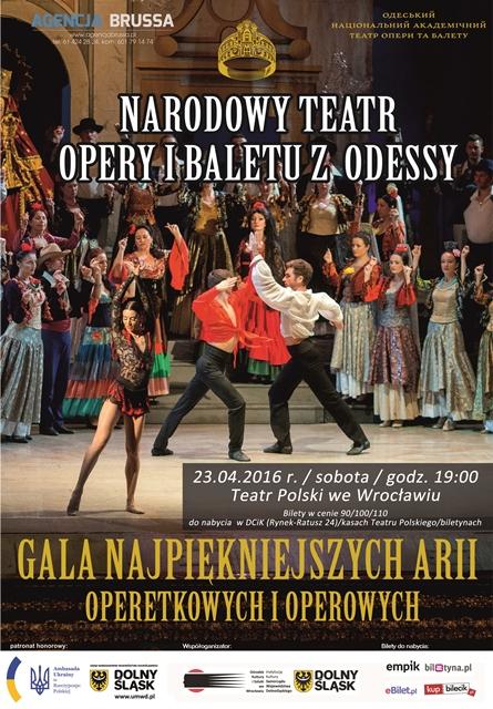 Gala arii operetkowych i operowych Narodowego Teatru Operyi Baletu z Odessy