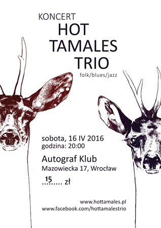 "Koncert ""Hot Tamales Trio\"" data-mce-src="