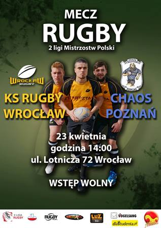 Mecz 2 Polskiej Ligi Rugby - Rugby Wrocław - Chaos Poznań