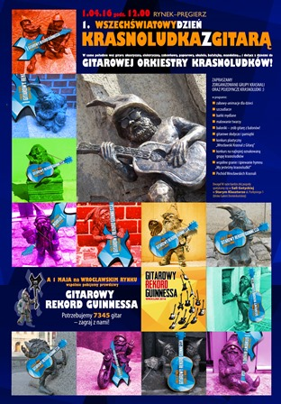 Wszechświatowy Dzień Krasnoludka z Gitarą na Rynku