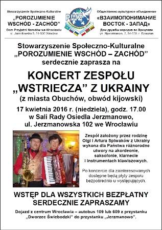 """Koncert zespołu """"Wstriecza\"""" data-mce-src="""