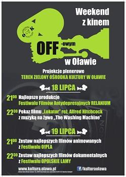 Plenerowe pokazy filmowe w Oławie