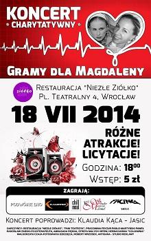 Koncert charytatywny na rzecz chorej na nowotwór wrocławskiej pielęgniarki Magdaleny Krajewskiej