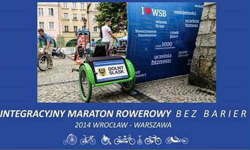 """Integracyjny Maraton Rowerowy Wrocław - Warszawa 2014 \"""" data-mce-src="""