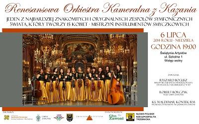Koncert Renesansowej Orkiestry Kameralnej z Kazania w Zawoni