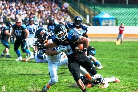Dzień footballu amerykańskiego (Panthers Wrocław) w Aquaparku