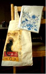 Warsztaty decoupage na tkaninie: torba, poszewka, aplikacja.
