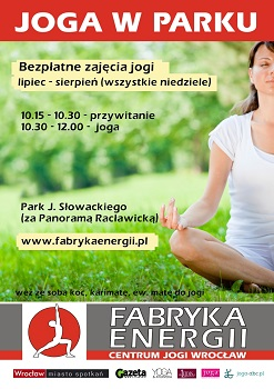Joga w Parku, czyli darmowe zajęcia jogi w Parku Słowackiego