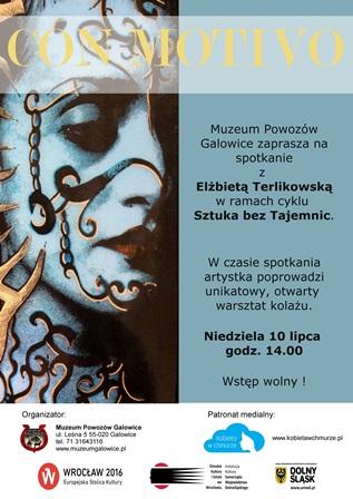 Con motivo – spotkanie i warsztaty z kolażu z Elżbietą Terlikowską