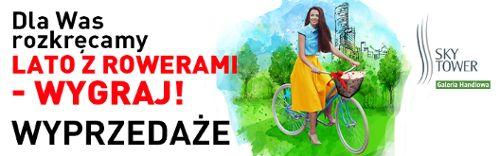 Festiwal rowerowy Sky Bike w Sky Tower: bezpłatny serwis i znakowanie rowerów