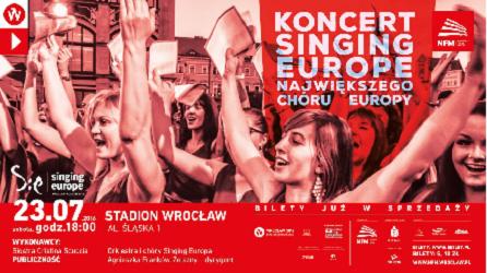 Singing Europe 2016: koncert Światowych Dni Młodzieży na Stadionie Wrocław