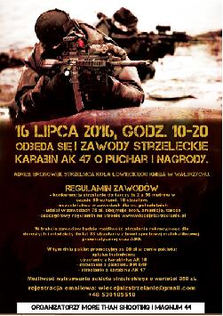I OGÓLNODOSTĘPNE ZAWODY STRZELECKIE KARABIN AK 47