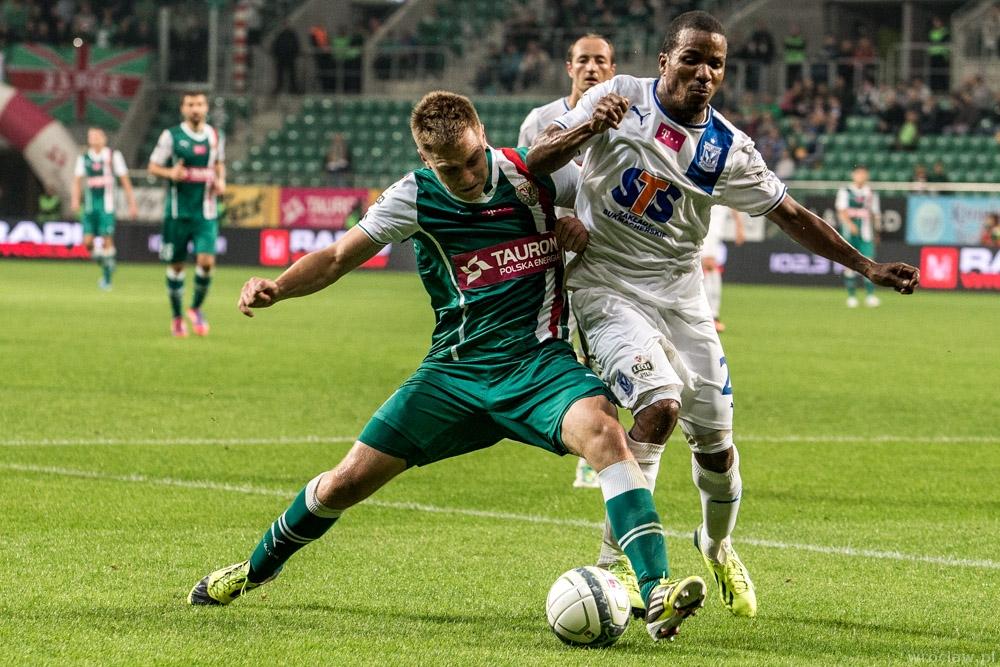 Mecz piłkarskiej ekstraklasy - Śląsk Wrocław - Lech Poznań