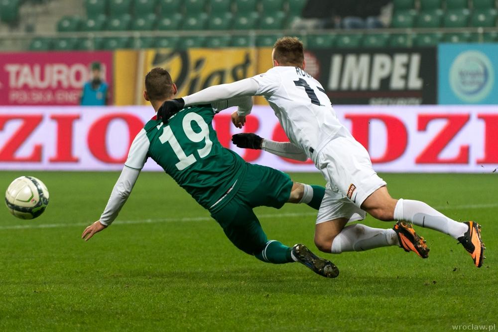 Mecz piłkarskiej ekstraklasy - Śląsk Wrocław - Pogoń Szczecin