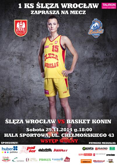 Mecz ekstraklasy koszykarek - Ślęza Wrocław - Basket Konin