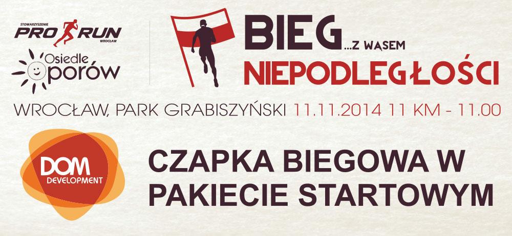 Bieg Niepodległości z wąsem we Wrocławiu