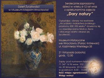 Dzień Życzliwości 2015  - program Muzeum Miejskiego Wrocławia