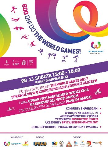 600 dni do The World Games w Pasażu Grunwaldzkim