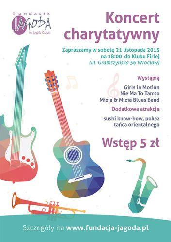 Koncert charytatywny fundacji Jagoda