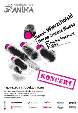 Koncert Blues and Jazz: Sławek Wierzcholski i Nocna Zmiana Bluesa