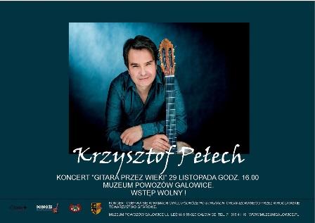 """Koncert Krzysztofa Pełecha """"Gitara przez wieki""""."""