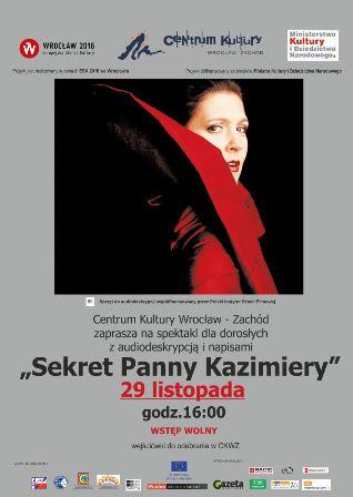 """""""Sekrety pani Kazimiery"""" – z audiodeskrypcją i napisami"""
