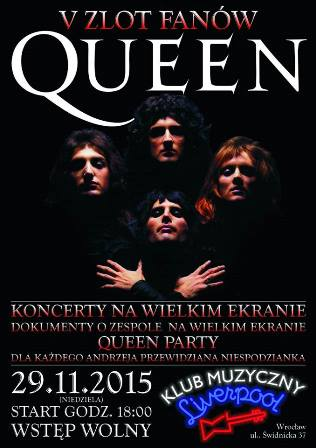 V Zlot Fanów Queen w Klubie Liverpool