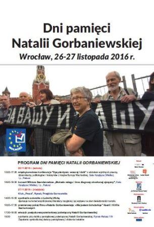 Dni Pamięci Natalii Gorbaniewskiej